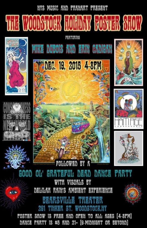 Holiday Poster Art Show at Bearsville Theater In Woodstock