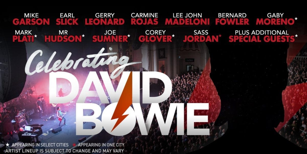 Celebrating david bowie north american tour with all star lineup its been over two years since david bowie left us very shortly after releasing his final masterpiece blackstar his legacy continues to live on and a new fandeluxe Gallery
