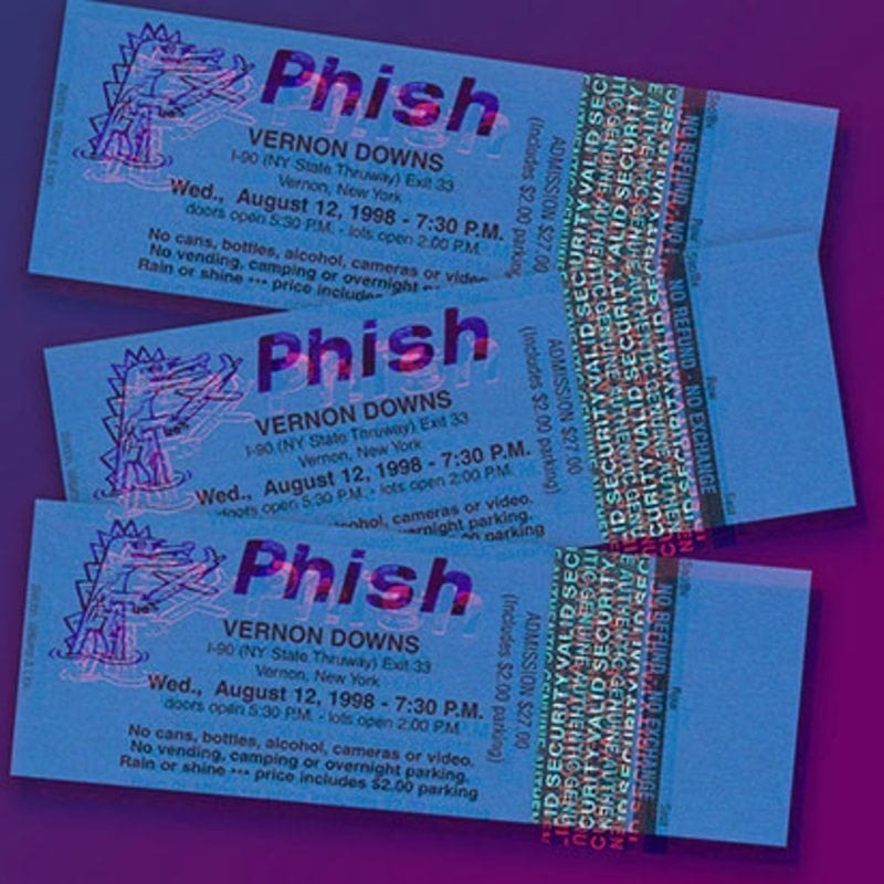 Latest Live Phish Release Features 1998 Vernon Downs Show | Utter Buzz!