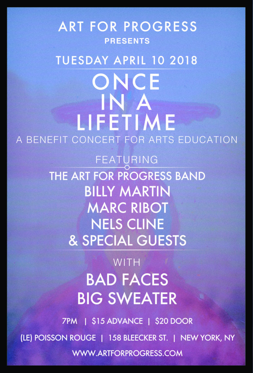 Nyc hot spot to host art for progress benefit concert utter buzz wilco and marc ribot together with other special guests theyll comprise the art for progress band in whats sure to be a memorable collaboration fandeluxe Image collections