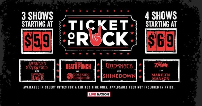 Live Nation Announces 2018 Ticket To Rock Package Utter Buzz