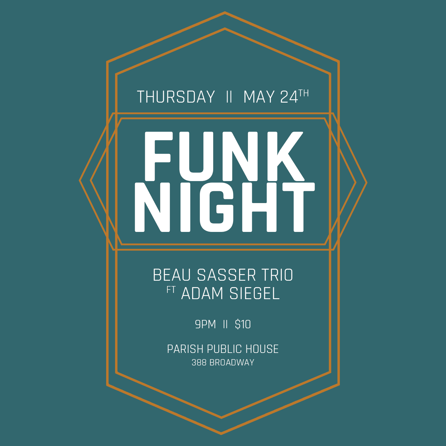 Beau Sasser Trio to host Funk Night in Albany on May 24 | Utter Buzz!