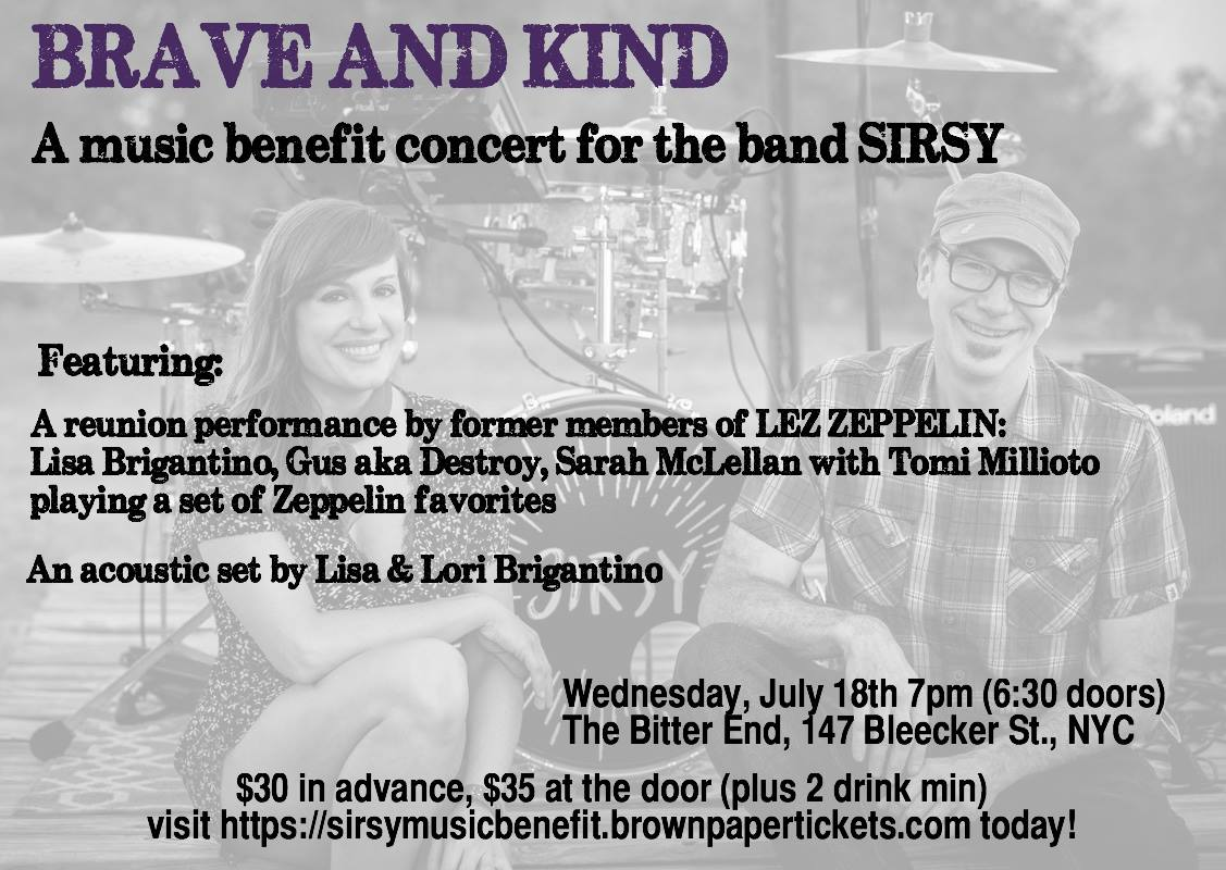 Benefit Show for Albany\'s Sirsy at The Bitter End in NYC July 18 ...