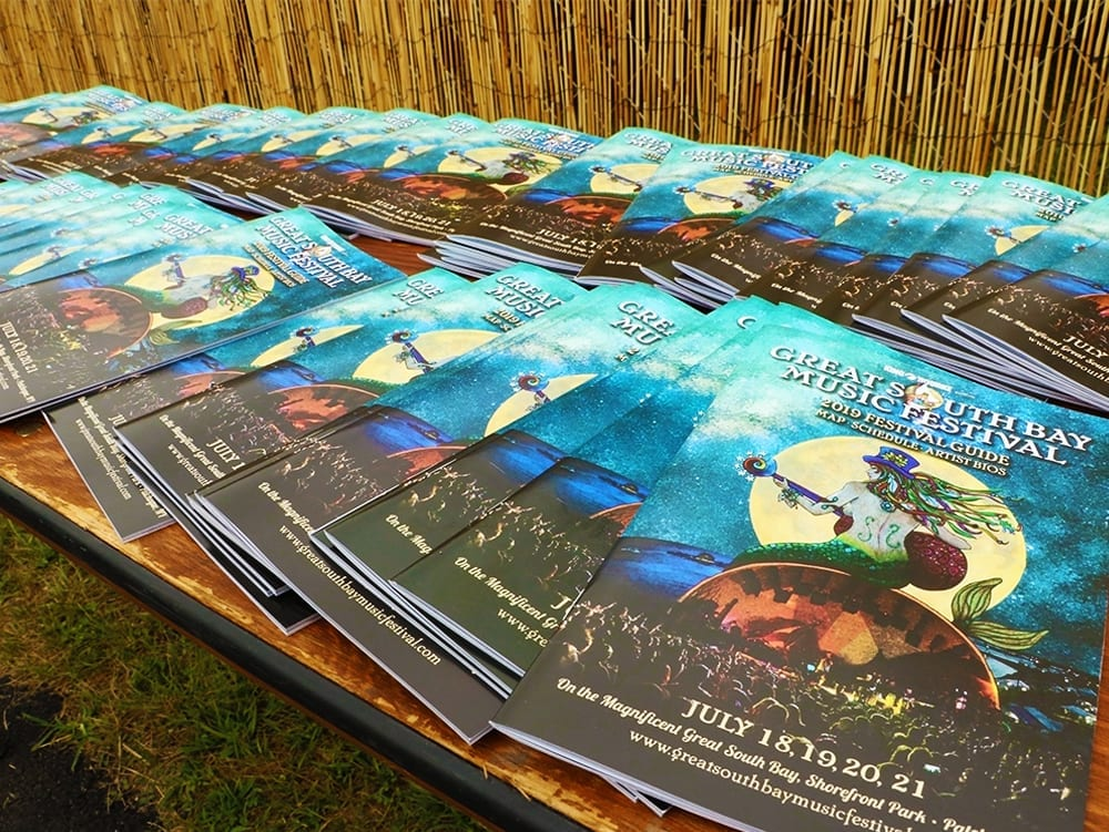 Festival Pamphlets for Great South Bay Music 2019