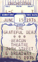 Grateful Dead Beacon Theatre
