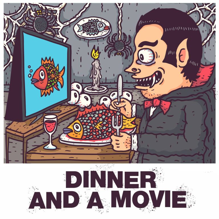 halloween dinner and a movie